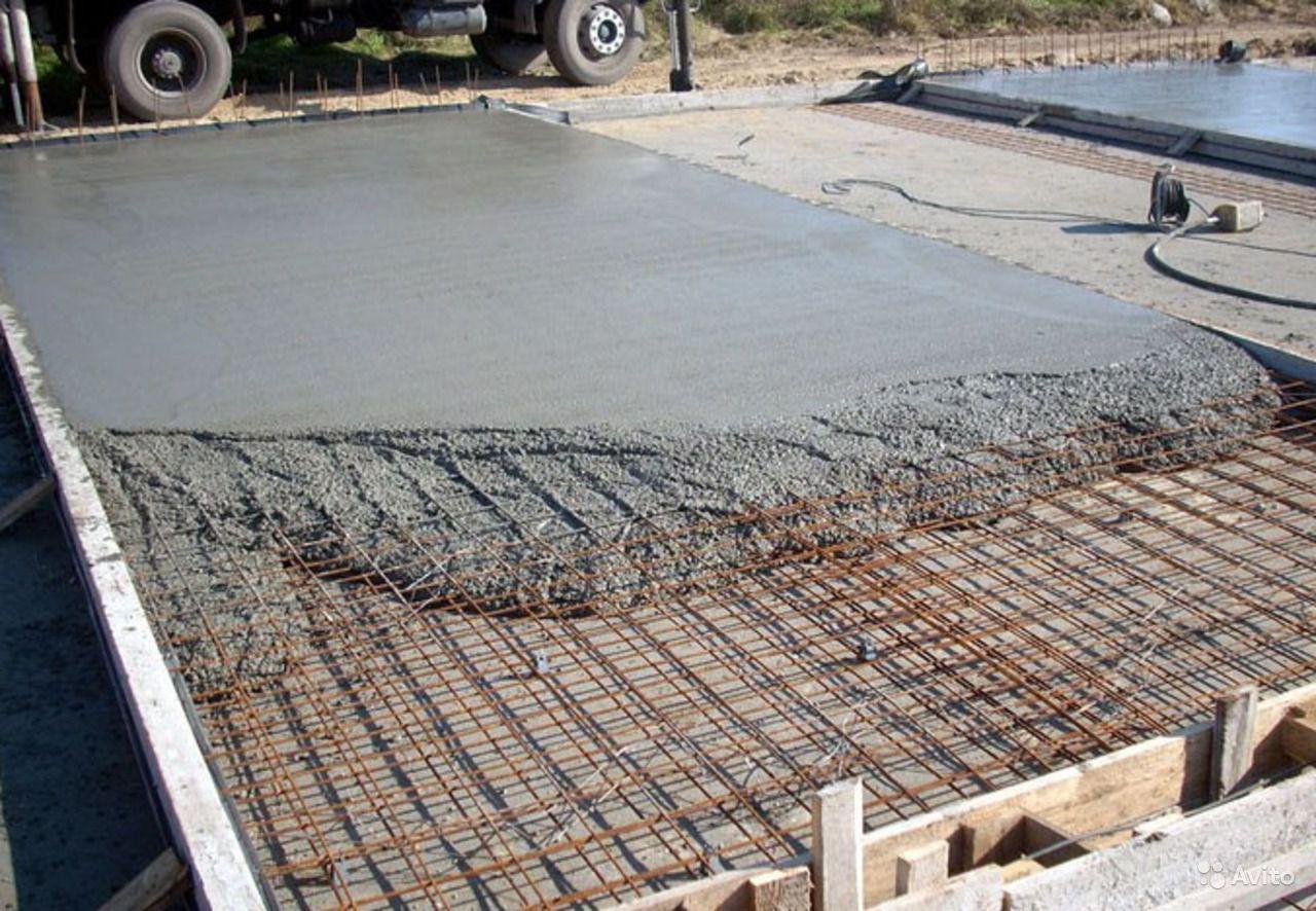 бетонирование площадок цена с армированием